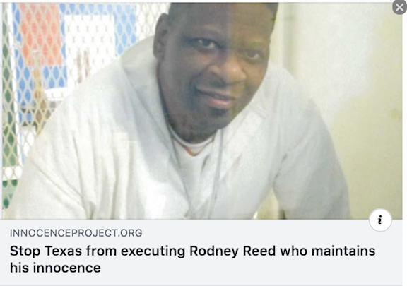 INNOCENT & ALLOWED to PROVE, Rodney Reed