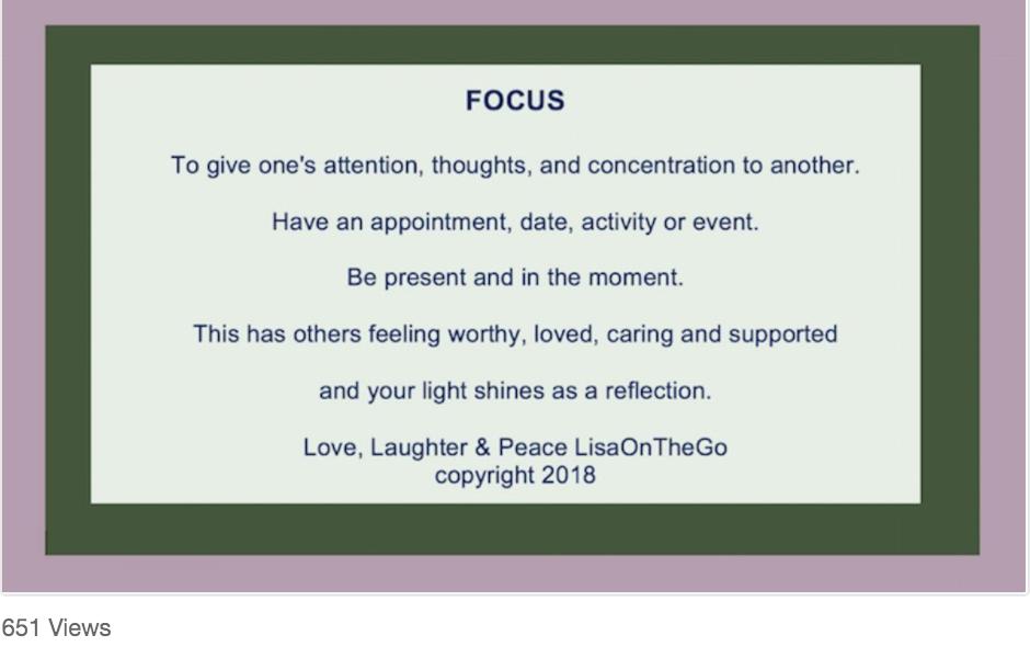 Focus? LisaoOnTheGoMagazine